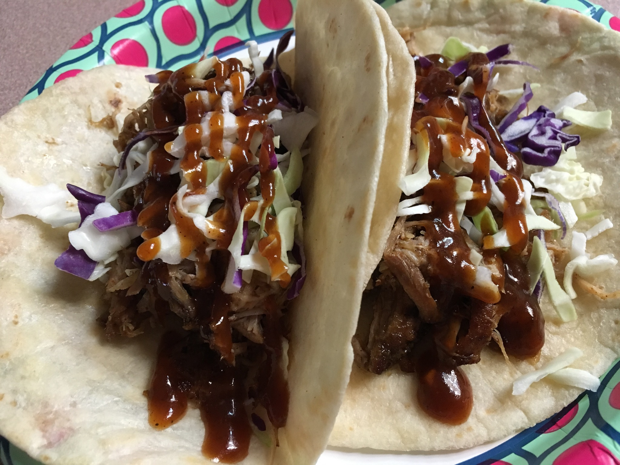 Sweet Heat pork tacos