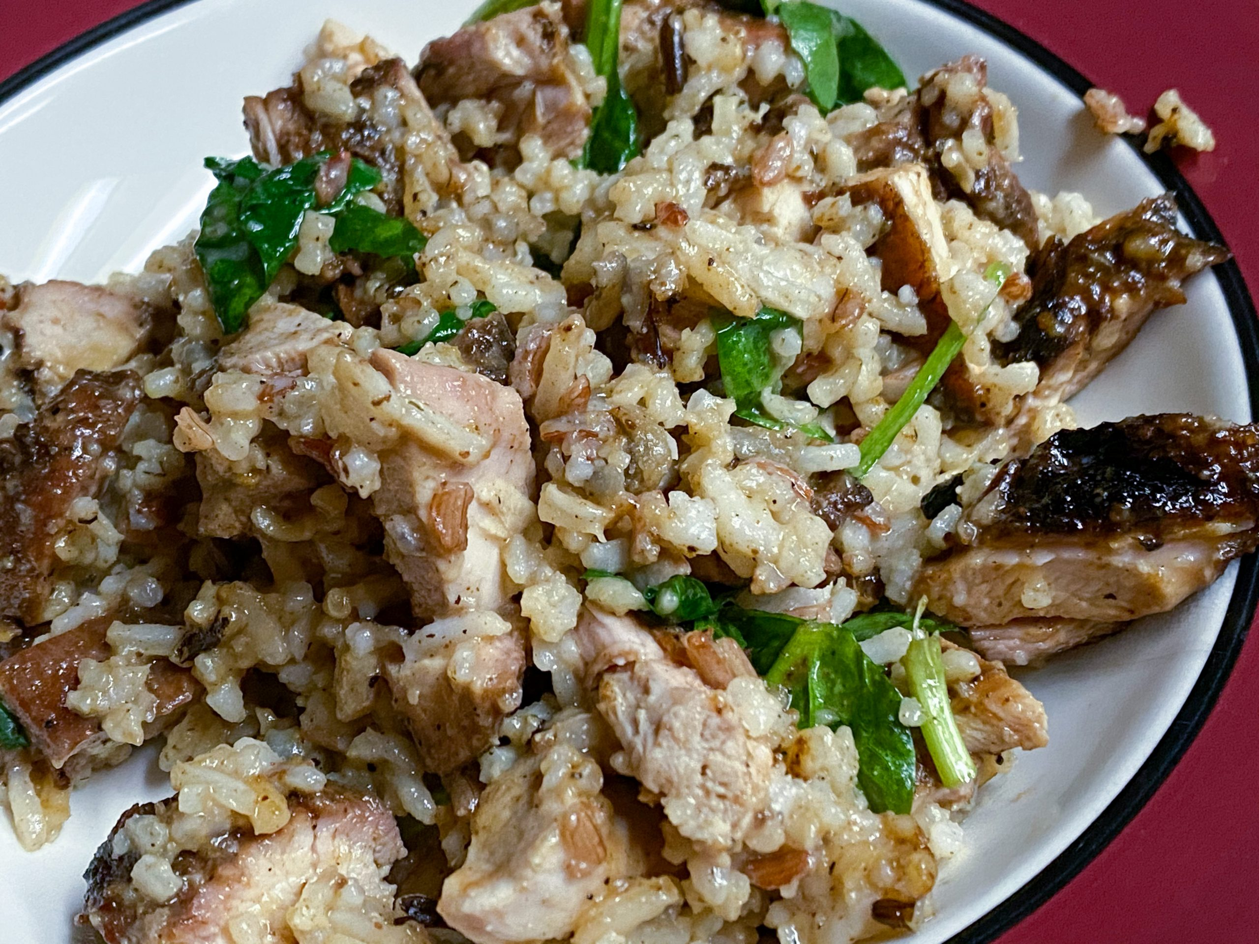chicken with spinach and rice